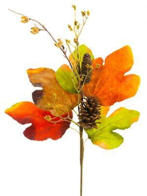"27"" Pine Cone/Berry/Fig Spray Fall"