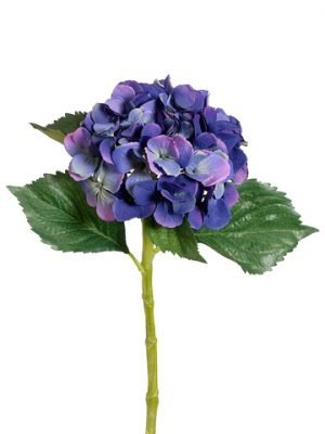 "19"" Large Single Hydrangea Spray with Water-Resistant Stem Blue Helio"