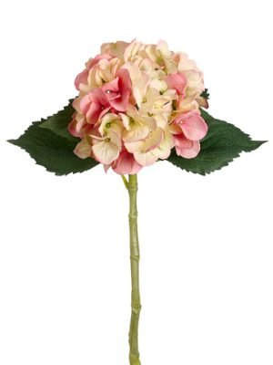 "19"" Large Single Hydrangea Spray with Water-Resistant Stem Pink Cream"