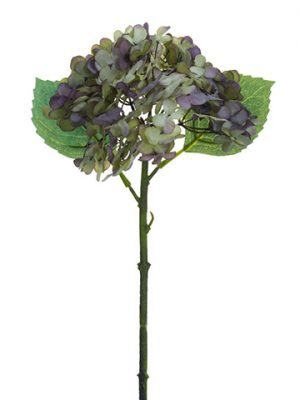 "13.5"" Hydrangea Spray Lavender Aqua"