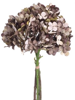 "12"" Hydrangea Bundle x3 Bwown Gray"