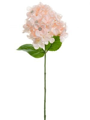"24"" Hydrangea with Rhinestone Spray Blush"