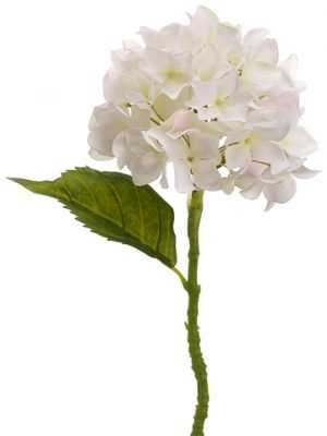 "13.5"" Hydrangea Spray Cream"