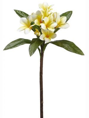 "22"" Plumeria Spray Two Tone Yellow"