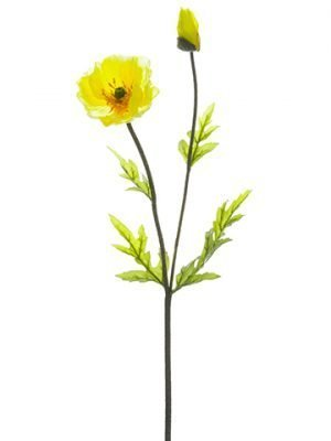 "19.5"" Poppy Spray Yellow"
