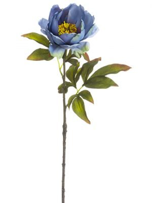 "21.5"" Open Peony Spray Antique Blue"