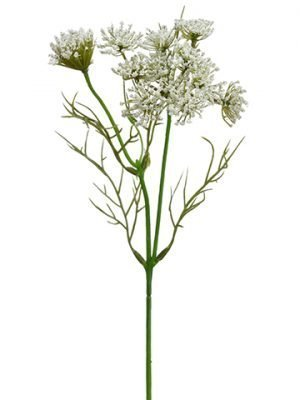 "13.5"" Queen Anne's Lace Spray White"