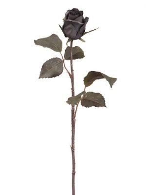 "21.5"" Small Cottage Rose Bud Spray Black"