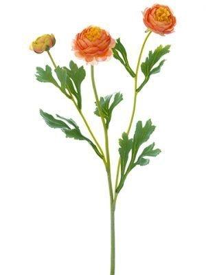 """20"""" Ranunculus Spray Orange"""
