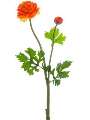 """18.9"""" Ranunculus Spray Orange"""