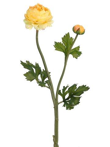 "18.9"" Ranunculus Spray Yellow"