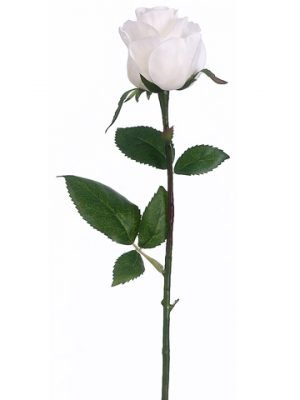 "17.5"" Rose Bud Spray White"