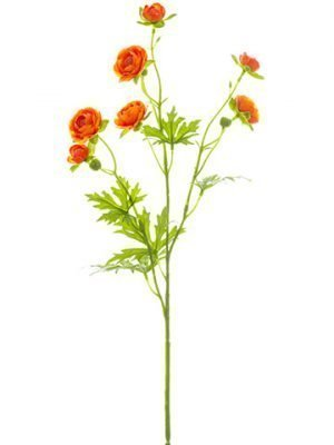 "22"" Mini Ranunculus Spray Orange"
