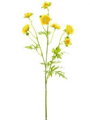 "22"" Mini Ranunculus Spray Yellow"