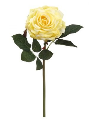 "12"" Real Touch Rose Spray Yellow"