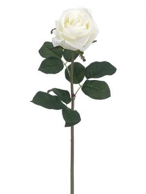 """20"""" Real Touch Rose Spray White"""