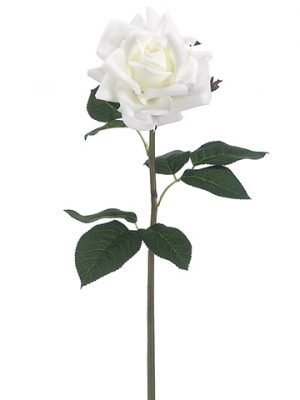"""20.5"""" Real Touch Rose Spray White"""