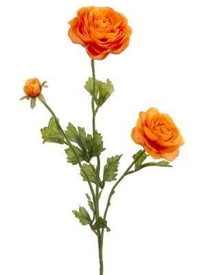 """27"""" Ranunculus Spray x3 Orange"""
