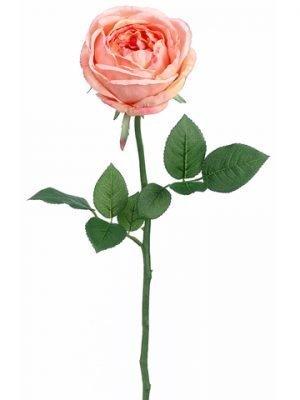 "23"" Garden Cabbage Rose Spray Coral"