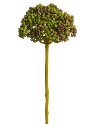 "9.4"" Soft Plastic Sedum Pick Green Mauve"