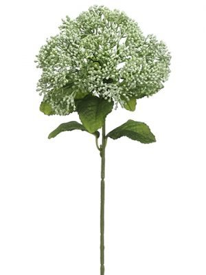"12.5"" Soft Polyethylene Skimmia Spray Green Gray"