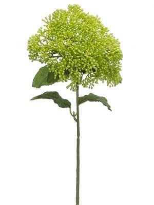 "12.5"" Soft Polyethylene Skimmia Spray Light Green"