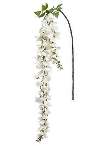 "64"" Wisteria Hanging Spray  White"