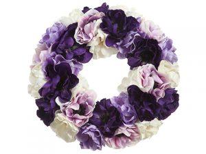 "14"" Anemone Wreath Mixed"