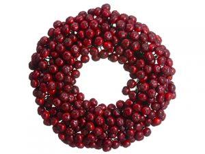 "10"" Rosehip Wreath Red"