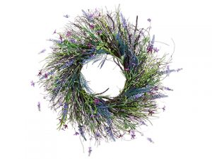 "24"" Lavender/Fern Wreath Lavender Purple"