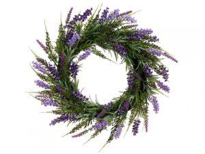 "17"" Lavender Wreath Purple Lavender"