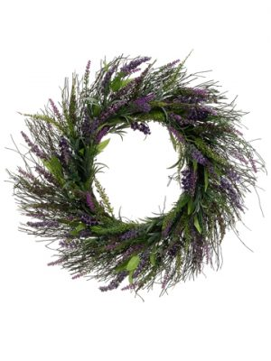 "23"" Lavender Twig Wreath Lavender Purple"