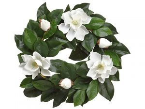 "22"" Magnolia Wreath Cream"