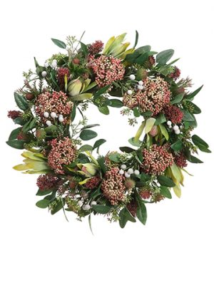 "19"" Protea/Thistle/Sedum Wreath"