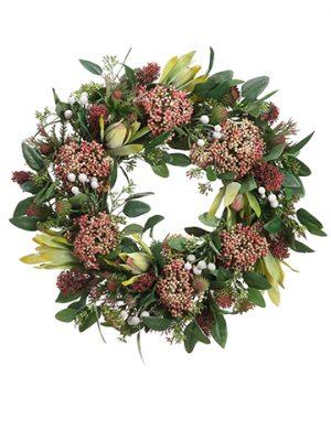 "19"" Protea/Thistle/SedumWreath"