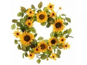 "24"" Sunflower/Rudbeckia/ Artichoke Wreath Yellow"
