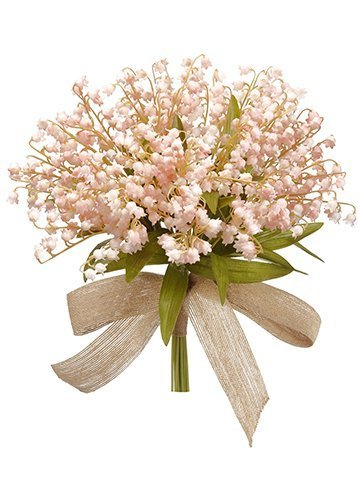 """13"""" Lily of The ValleyBouquetSoft Pink"""