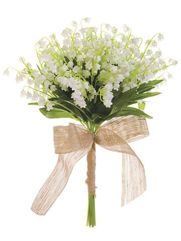 "13"" Lily of The Valley Bouquet White"
