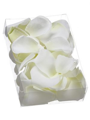 "2""H x 5.25""W x 7.5""L Rose Petal (250 Ea/acetate box) White"