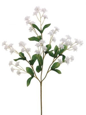 "19"" Double Baby's Breath Spray White"
