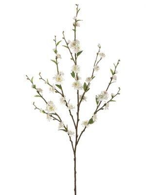 """39"""" Plum Blossom Spray x5_ White"""