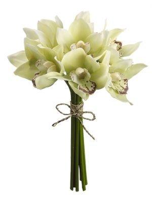 "10"" Cymbidium Orchid Bouquet Green"