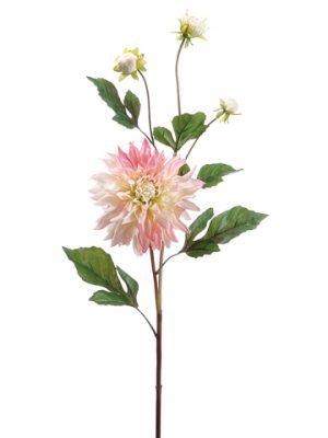 """37"""" Garden Dahlia Spray Pink Cream"""