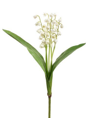 "12.5"" Lily of The Valley x5 Spray Cream"