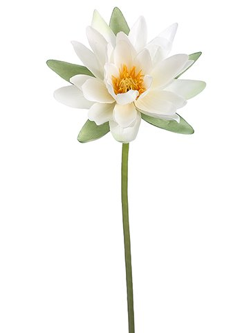 "34"" Water Lily Spray Ivory"