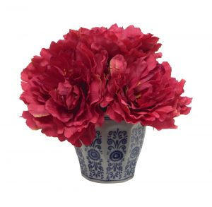 Chinoiserie Collection -- Burgundy Peony