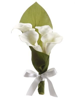 "10"" Calla Lily Flower Girl Cone Cream"