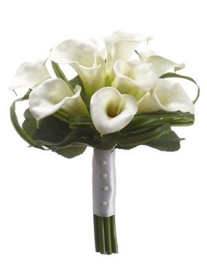 "12"" Calla Lily Bridesmaid Bouquet Cream"