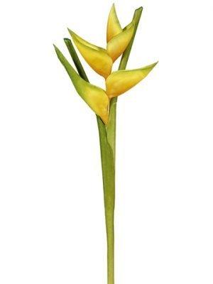 """34"""" Hawaiian Heliconia Spray Yellow"""