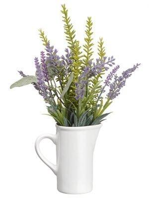 "12"" Lavender/Eucalyptus inCeramic PitcherLavender Green"